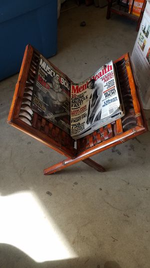 Magazine rack bamboo for Sale in Kerman, CA