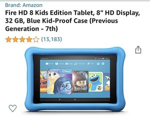 "Fire tablet, amazon HD 8"" for Sale in Park City, IL"