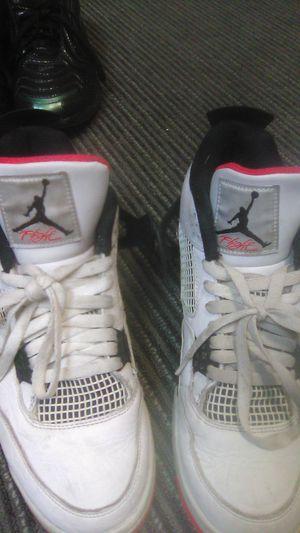 Nike 308497-116 Air Jordan 4 Retro Flight Nostalgia Men Shoes Size 11 (White) for Sale in Kent, WA