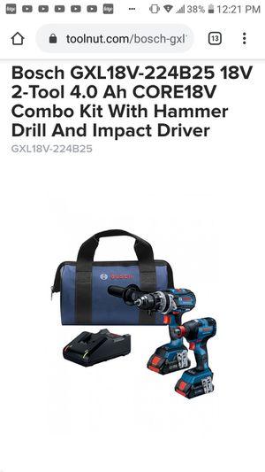 Bosch 2 tool combo drill driver/impact for Sale in Wichita, KS
