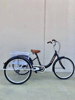 """24"""" tricycle single speed for adults brand new well assembled with big rear basket and big comfortable seat for Sale in La Habra, CA"""