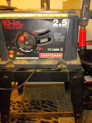 """Craftsman 10"""" table saw for Sale in Lancaster, OH"""