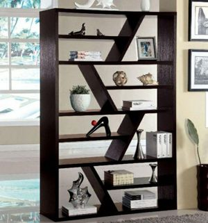 71 in. Espresso 12-shelf Standard Bookcase with Open Back for Sale in Pomona, CA