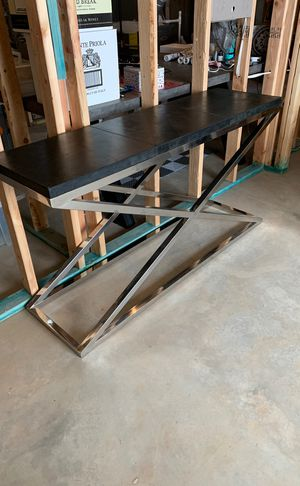 Leather and Chrome Console Table for Sale in Atlanta, GA