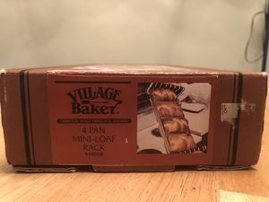 Village baker four pan mini loaf rack for Sale in Lake Worth, FL