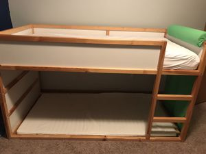 Modern kids bunk bed with mattress and accessories for Sale in Plainfield, IL