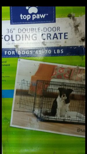 Top paw 36 inch folding dog crate for Sale in Auburndale, FL