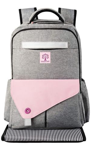 Pink-Diaper-Bag Backpack for Girl and Boy. Large Diaper Backpack for Mom Holds for Walk and Travel with Babies. Includes Insulated Pockets Changing for Sale in Pomona, CA