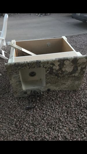 Free 48in cabinet with granite counter top for Sale in Glendale, AZ