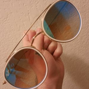 Rayban RB3647N white and gold Aviators for Sale in Austin, TX