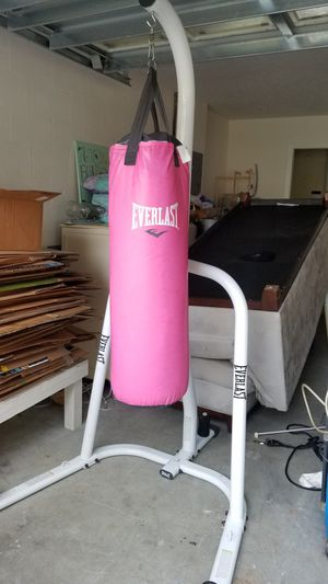 Everlast Punchin Bag with Stand and Gloves for Sale in Lutz, FL