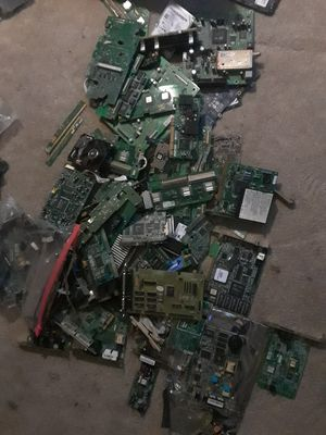 35 lbs Gold Recovery hard drives mother boards modems for Sale in Victorville, CA