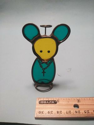 Stained glass angelic mouse for Sale in Wolcott, CT