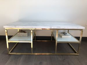 Marble and gold coffee table for Sale in La Cañada Flintridge, CA