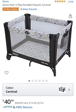 Graco Pack 'n Play Portable Playard play yard baby bed crib for Sale in North Riverside, IL