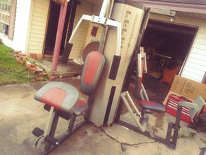 2 stage Olympic gym with seperate bench press and punching bag and pull up bar for Sale in Port Arthur, TX