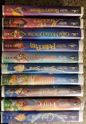 Disney Black Diamond VHS Set of 10 Classics for Sale in Normandy Park, WA