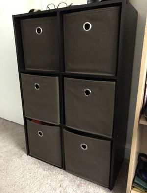 6-CUBES ORGANIZER SHELF, INCLUDES ALL STORAGE BINS! for Sale in Arlington, VA