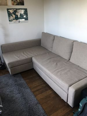 Sleeper sectional/couch with storage for Sale in Seattle, WA