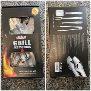 """HEAVY DUTY BBQ GRILL TOOLS SET 18"""" STAINLESS STEEL TONGS GIFT PARTY CAMPING GRILLING MENS for Sale in Denver, CO"""