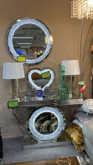 Amazing LED Light Up Mirrors and Console Tables FS for Sale in Euless, TX