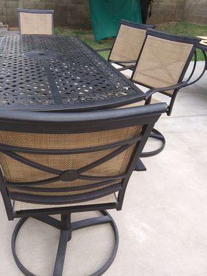 Patio Table & 6 Swivel Chairs for Sale in Phoenix, AZ