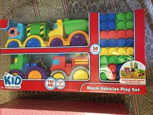 Brand new blocks vehicle play set for Sale in Jersey City, NJ