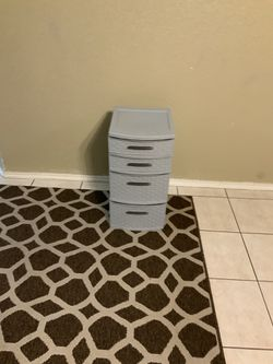 Gray Small Plastic Drawer for Sale in Arlington,  TX