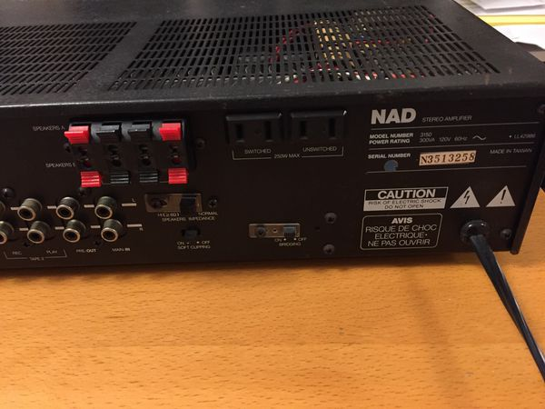 NAD 3150 Integrated Amplifier for Parts for Sale in Chicago, IL - OfferUp