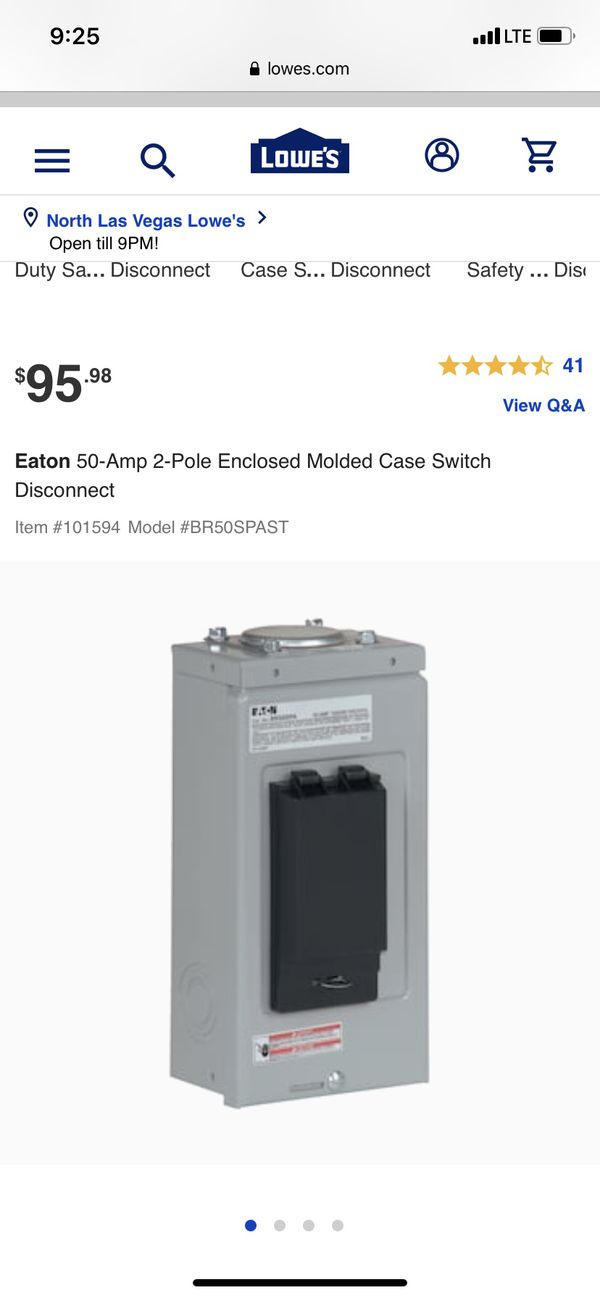 EATON ‼️ 50 Amp hot tub panel ‼️ new open box