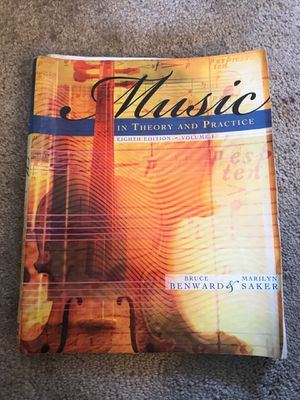 Music Theory and Practice Volume 1 for Sale in Poway, CA
