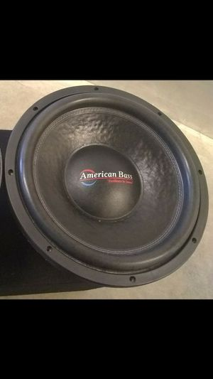 American bass 2000 watt subwoofer *direct leads* $160 like new still very stiff, for Sale in Mesa, AZ