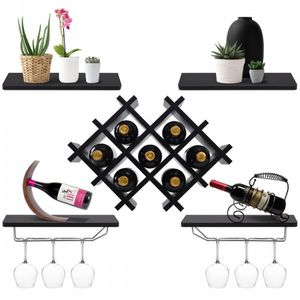 Set of 5 Wall Mount Wine Rack Set for Sale in Norwell, MA