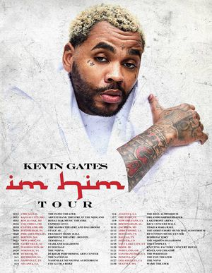 IM HIM TOUR staring KEVIN GATES live in SF at the WARFIELD November 25th Monday for Sale in Oakland, CA