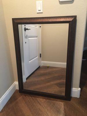 Wood Trim Wall Mirror for Sale in Mesa, AZ