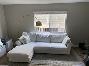Bella White Custom Designed Sectional Sofa for Sale in West Los Angeles, CA