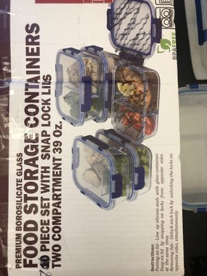 8-Piece Food Prep Storage Containers [READ DESCRIPTION] for Sale in Las Vegas, NV