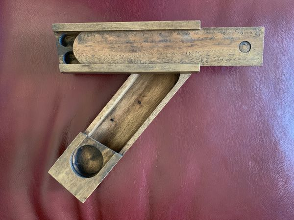 Antique wooden school/pencil holder