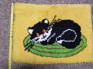 Hand hooked cat rug or wall hanging for Sale in San Luis Obispo, CA