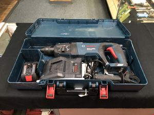 Bosch Hammer Drill W/Battery & Charger in Case for Sale in Newport News, VA