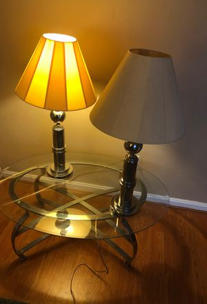 2 Table Lamps and 1 Coffee Table 170 for Sale in Arlington, VA