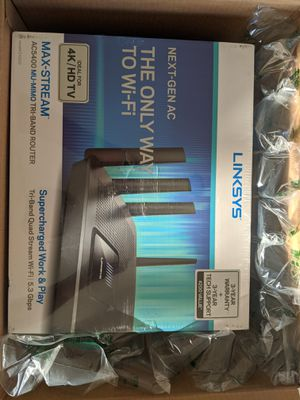 Linksys Tri-Band Wifi Router for Home (Max-Stream AC5400 MU-Mimo Fast for Sale in San Diego, CA