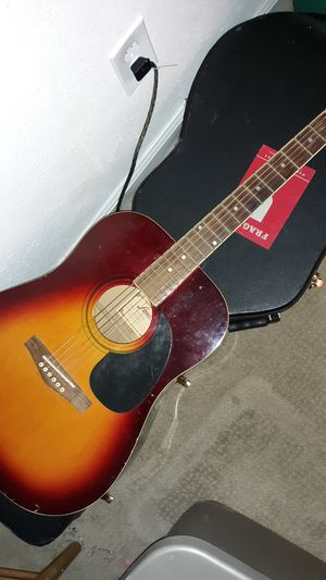 acoustic guitar plus case for Sale in Ontario, CA