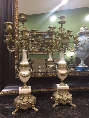 Marble and bronze candelabras. for Sale in Miami, FL