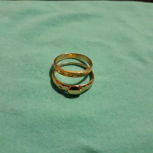 Set 2 Piece 18 K Gold Plated Wedding Ring, Size 7. for Sale in Dallas, TX