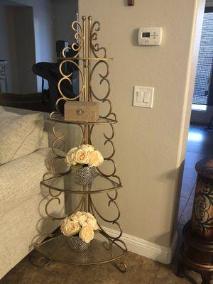 Elegant wrought iron corner shelf for Sale in Las Vegas, NV