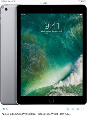 Apple iPad 5th Gen a1822 for Sale in San Francisco, CA