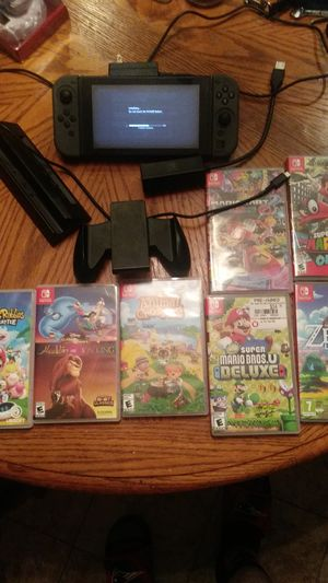 Nintendo Switch with 9 games for Sale in Concord, NC