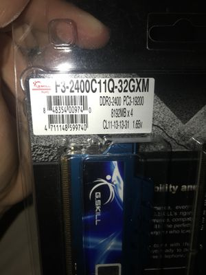 G.SKILL Ripjaws X Series 32G DDR3 2400mhz for Sale in Boston, MA