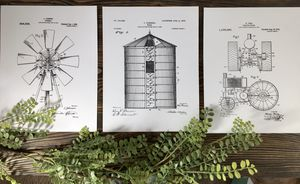 New Farmhouse Patent Prints for Sale in Olympia, WA